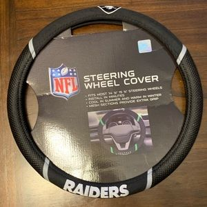 Raiders Embroidered Car/Truck Steering Wheel Cover